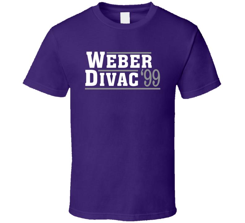 Chris Webber Vlade Divac 1999 Sacramento President Campaign Basketball T Shirt