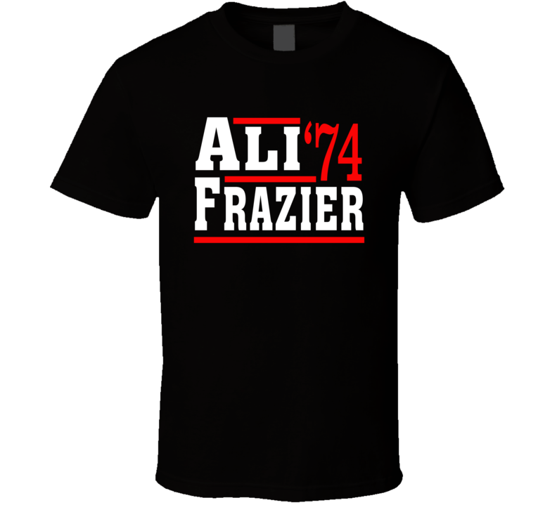 Ali Frazier 1974 Election Style Boxing Fight T Shirt