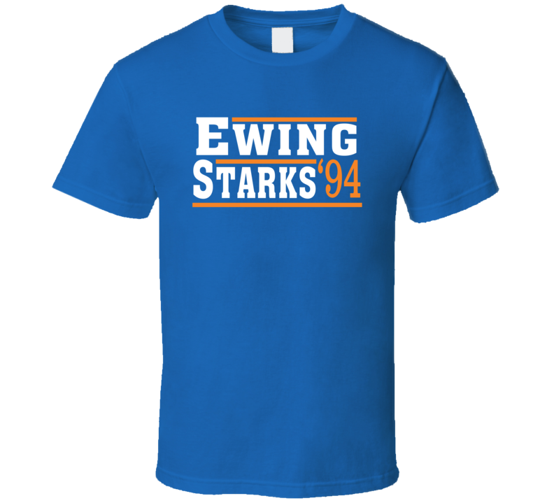 Ewing Starks 1994 Election Style New York Basketball T Shirt