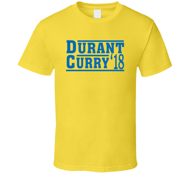 Kevin Durant Stephen Curry 2018 Golden State Election Style Champs Basketball Fan T Shirt