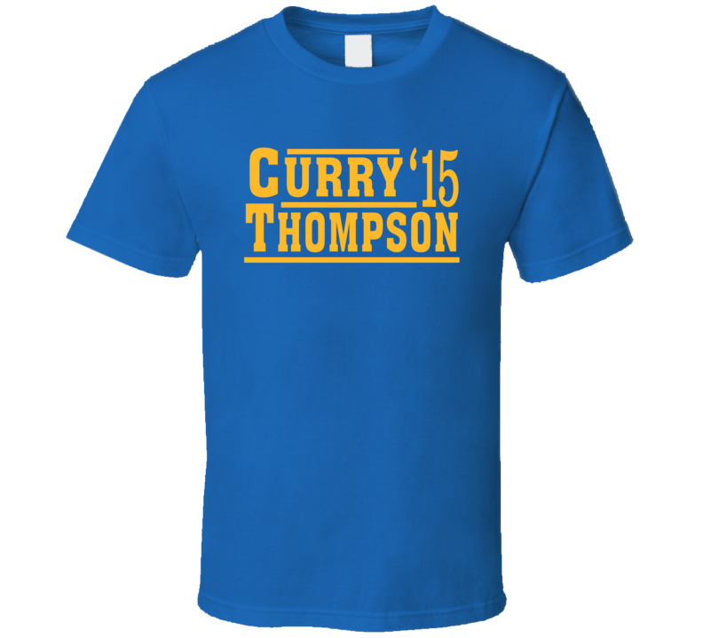 Stephen Curry Klay Thompson 2015 Golden State Election Style Champs Basketball T Shirt