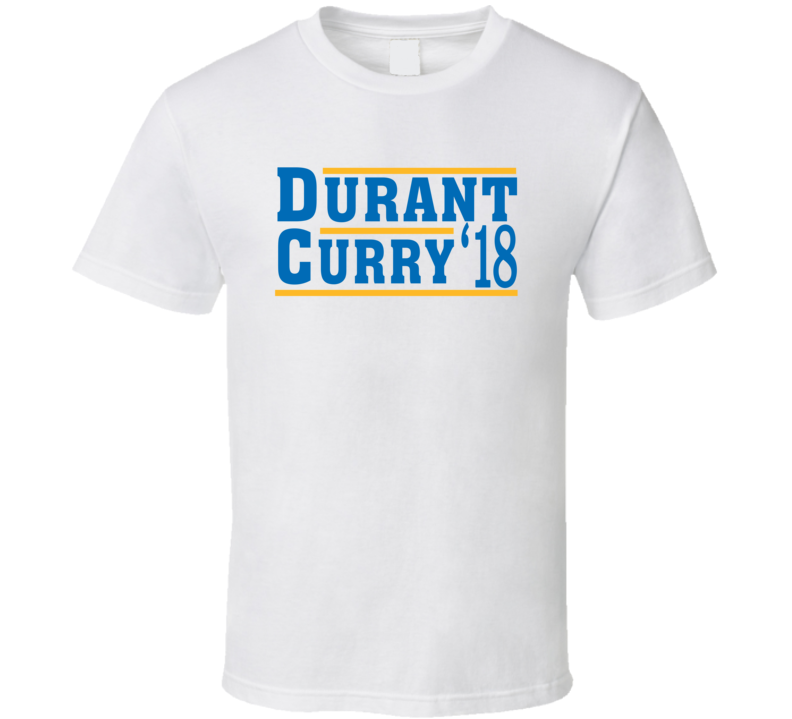 Kevin Durant Stephen Curry 2018 Golden State Election Style Champs Basketball Sports Fan T Shirt