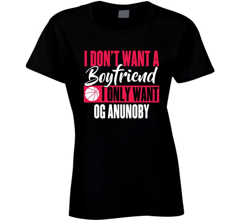 Og Anunoby My Boyfriend Ladies Toronto Basketball Fan Ladies T Shirt