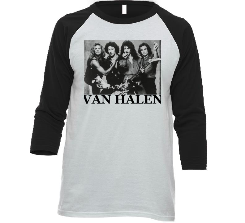 Van Rock Band Retro Vintage Raglan Rock N Roll T Shirt