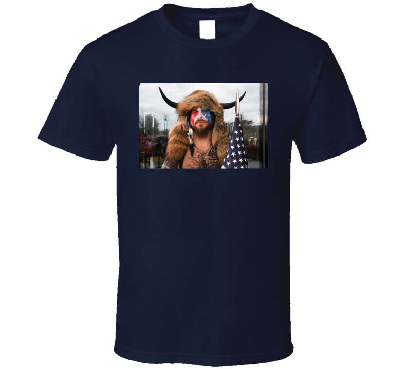 Jake Angeli Shirtless Horned Man Trump Maga Supporter T Shirt