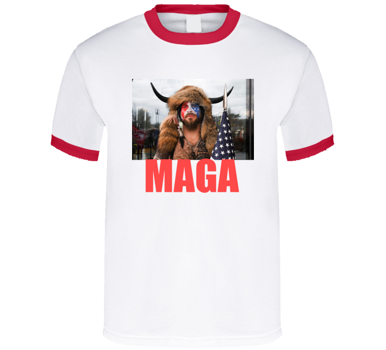 Jake Angeli Shirtless Horned Man Trump Maga Supporter V2 T Shirt