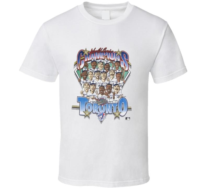 Toronto World Series Caricature Baseball T Shirt