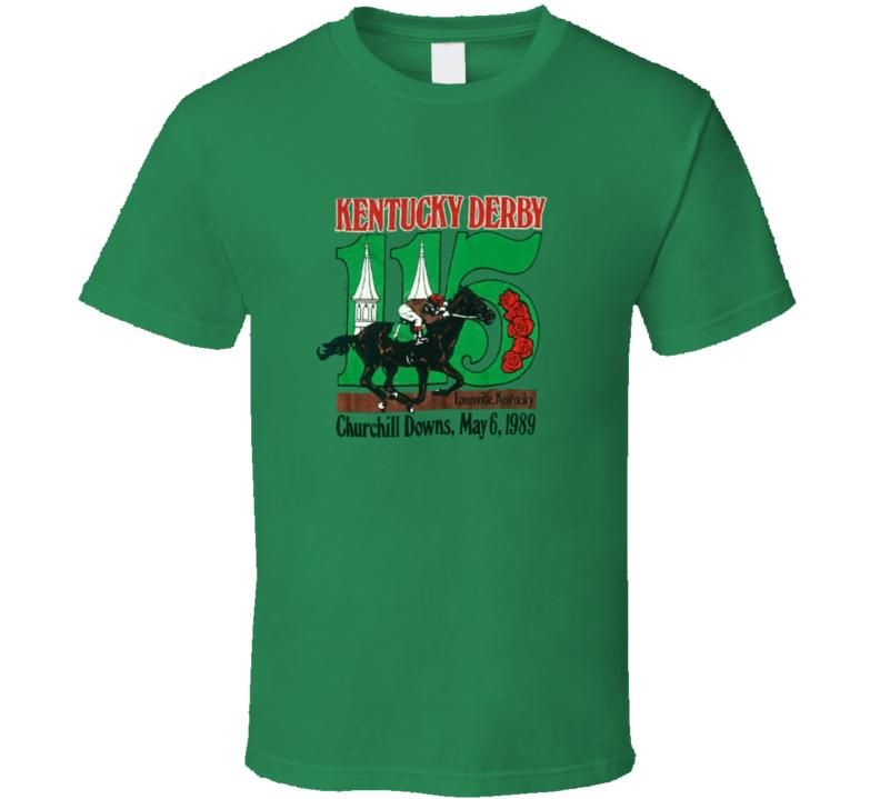 1989 Kentucky Derby  Horse Racing T Shirt