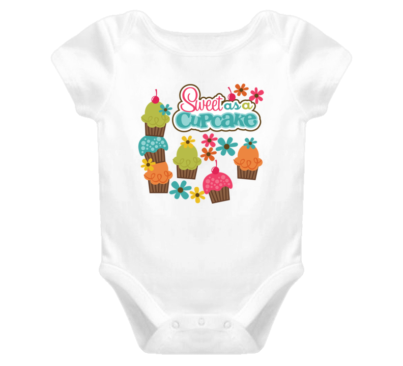 Baby Girl Sweet As A Cupcake Child Baby One Piece Onesie T Shirt