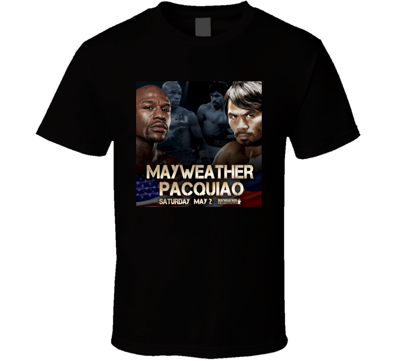 Mayweather vs Pacquiao Boxing Fight Of Century Promotion Poster T Shirt Limited