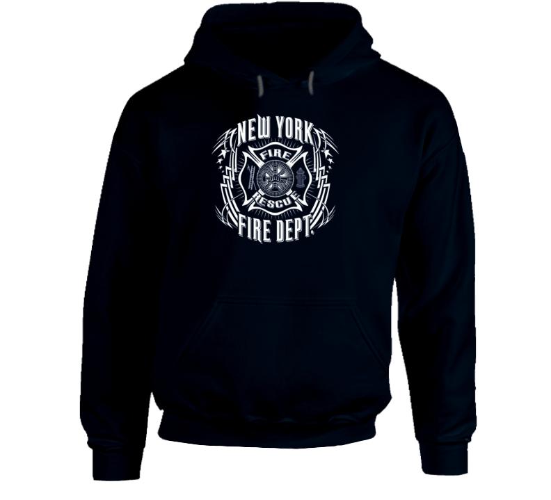 New York Fire Department FireFighter Tribal Sweatshirt Hoodie