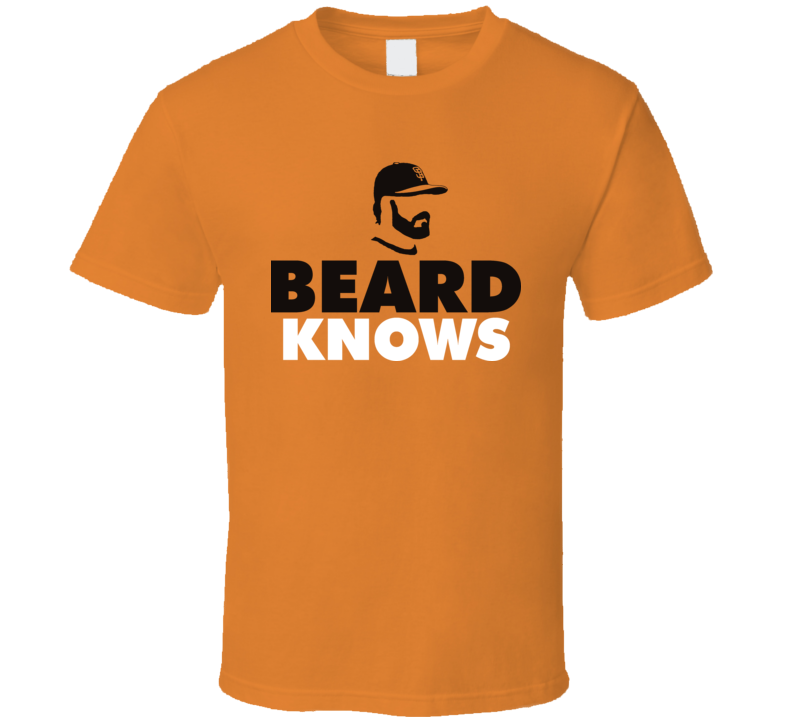 Brian Wilson Beard Knows San Fransico Baseball T Shirt