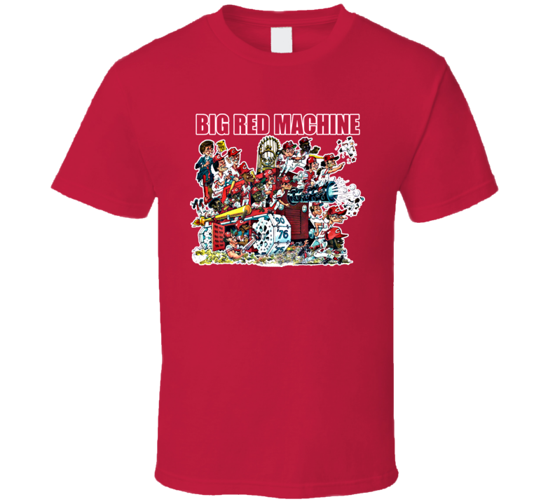 Big Red Machine Cincinnati Baseball Retro Vintage T Shirt