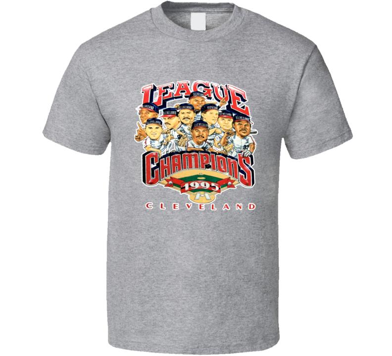 Cleveland Baseball 1995 League Champs Caricature T Shirt