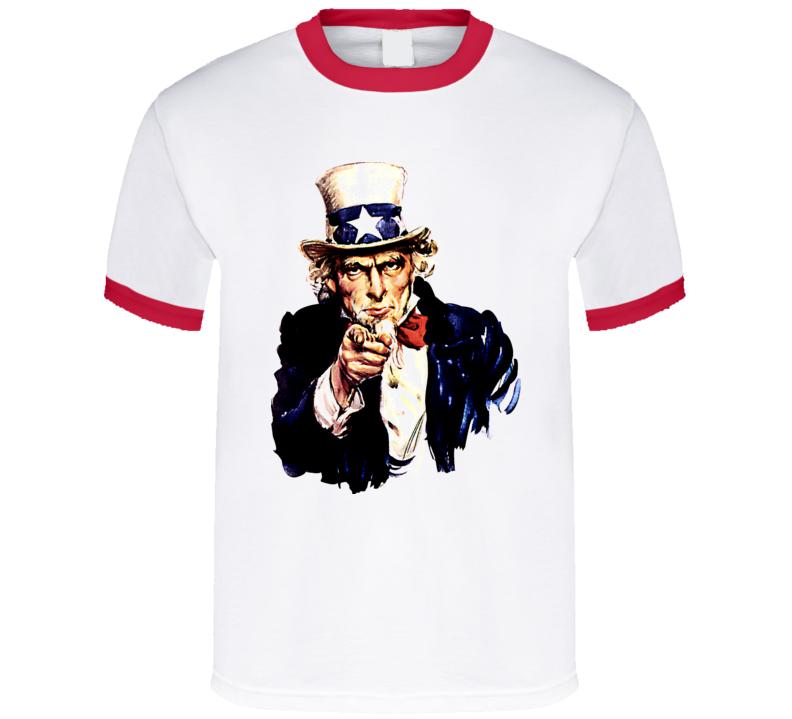 Uncle Sam Propaganda War Vintage T Shirt