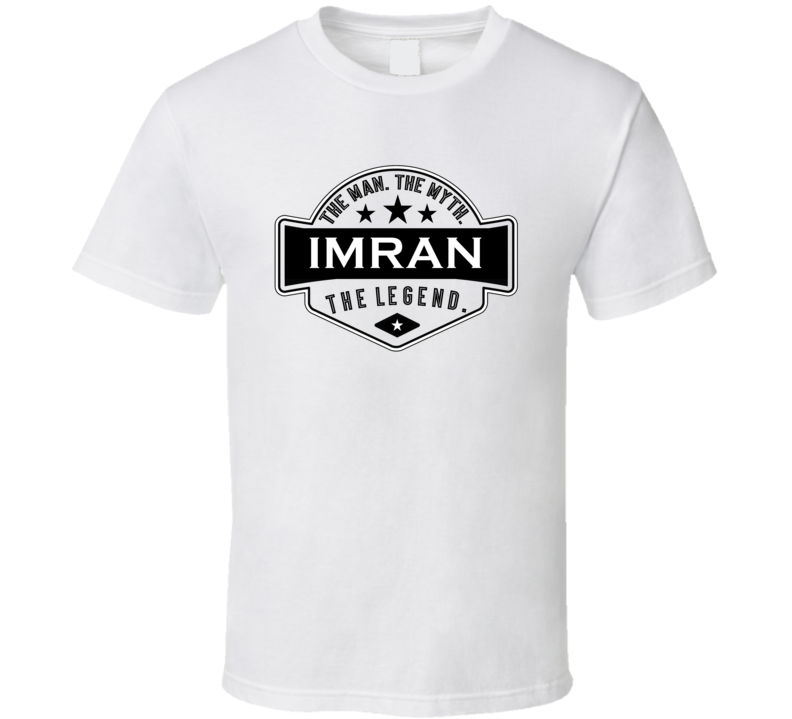 Imran Man Myth Legend Trendy Logo Label Style Cool Name T Shirt