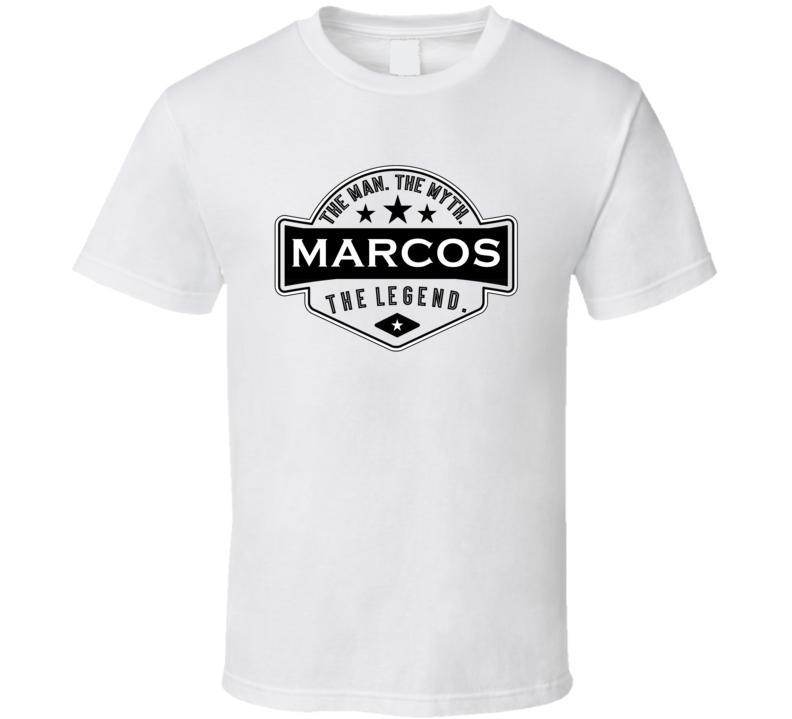 Marcos Man Myth Legend Trendy Logo Label Style Cool Name T Shirt