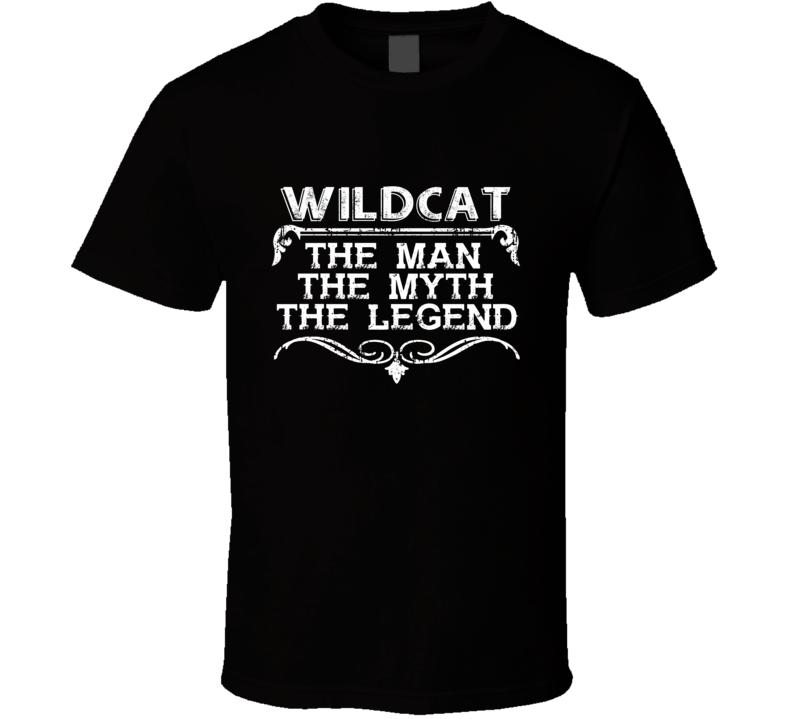 Wildcat Man Myth Legend Vintage Grunge Style Cool Name T Shirt