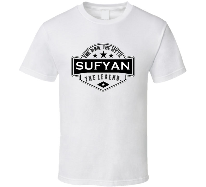 Sufyan Man Myth Legend Trendy Logo Label Style Cool Name T Shirt