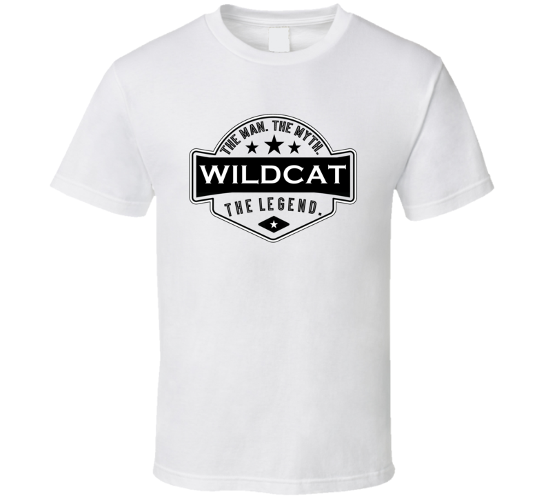 Wildcat Man Myth Legend Trendy Logo Label Style Cool Name T Shirt