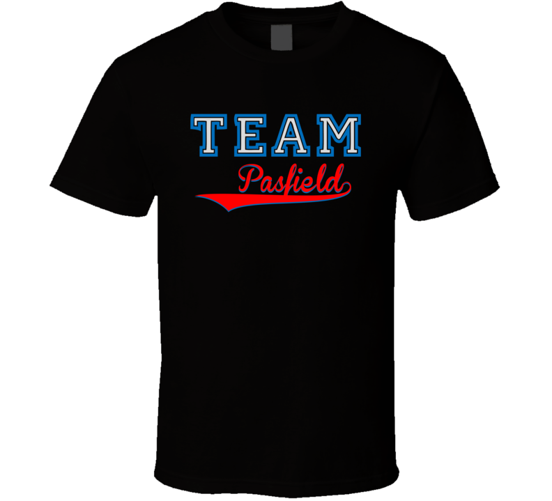 Team Pasfield Custom Graphic Sports Last Name Family Reunion T Shirt