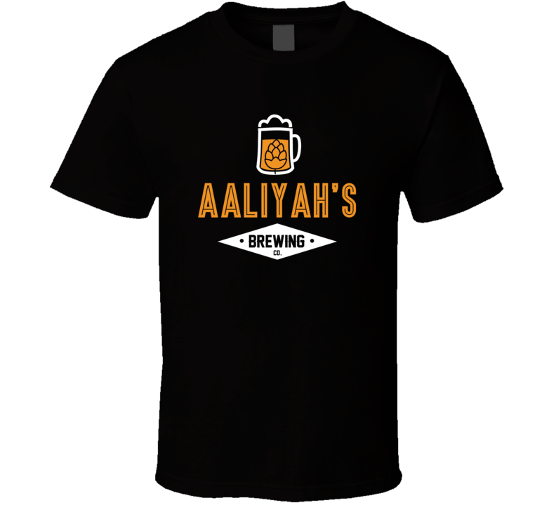 Aaliyah's Brewing Company Cool Personalized Party T Shirt