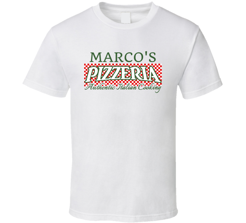 Marco's Pizzeria Personalized Name Italian Theme T Shirt