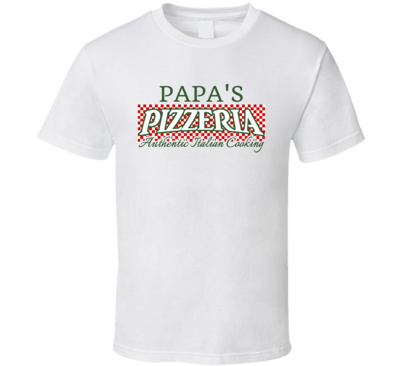 Papa's Pizzeria Personalized Name Italian Theme T Shirt