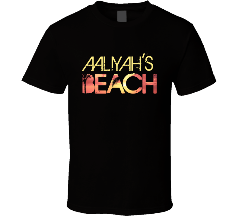 Aaliyah's Beach Personalized Cool Party T Shirt