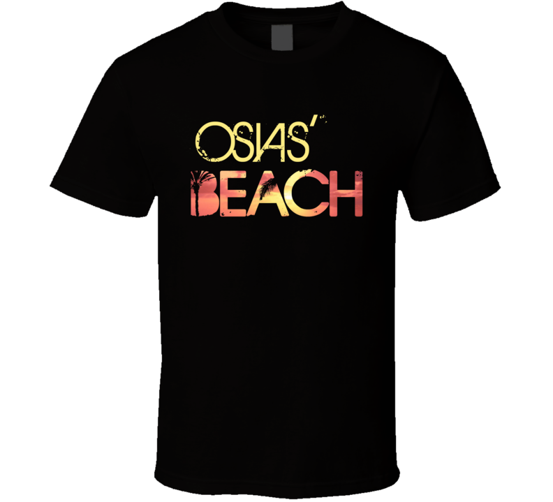 Osias's Beach Personalized Name Cool Party T Shirt