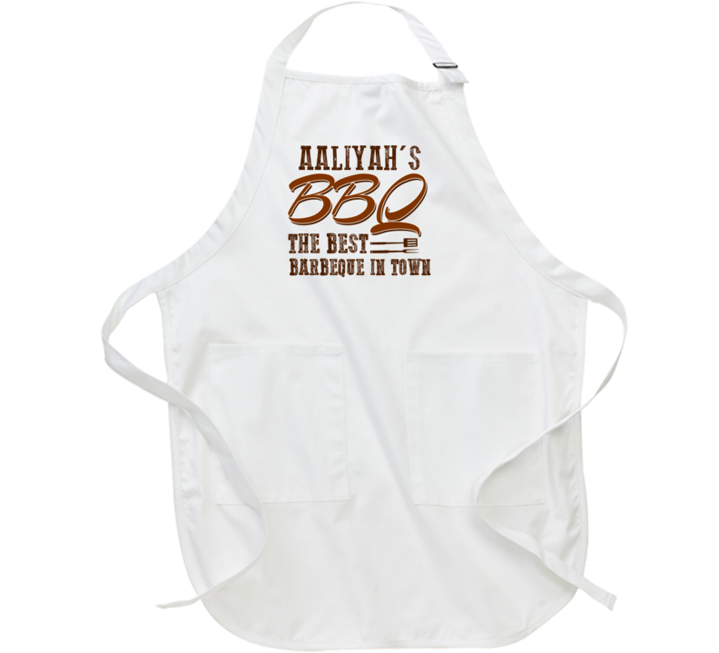 Aaliyah's BBQ Best In Town Cool Personalized Grill Cook Apron