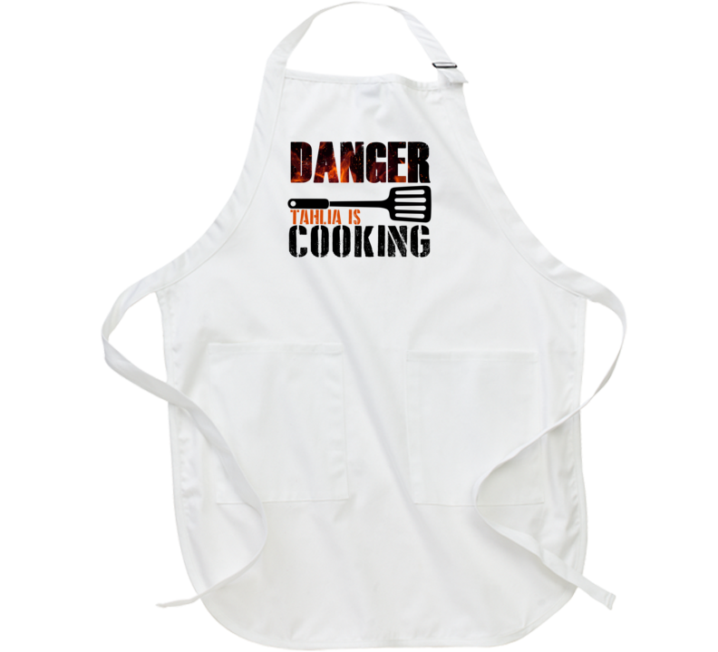 Danger Tahlia Is Cooking Cool Personalized BBQ Cooking Apron
