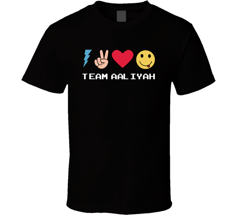 Team Aaliyah Custom Name Trending Gwen Emoji Heart T Shirt