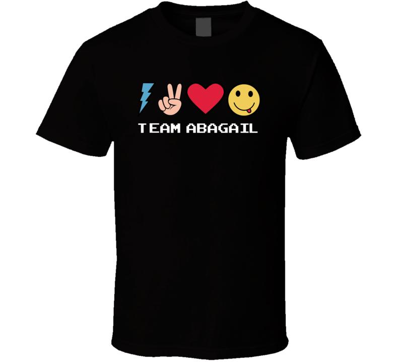 Team Abagail Custom Name Trending Gwen Emoji Heart T Shirt