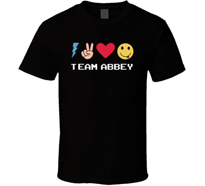 Team Abbey Custom Name Trending Gwen Emoji Heart T Shirt