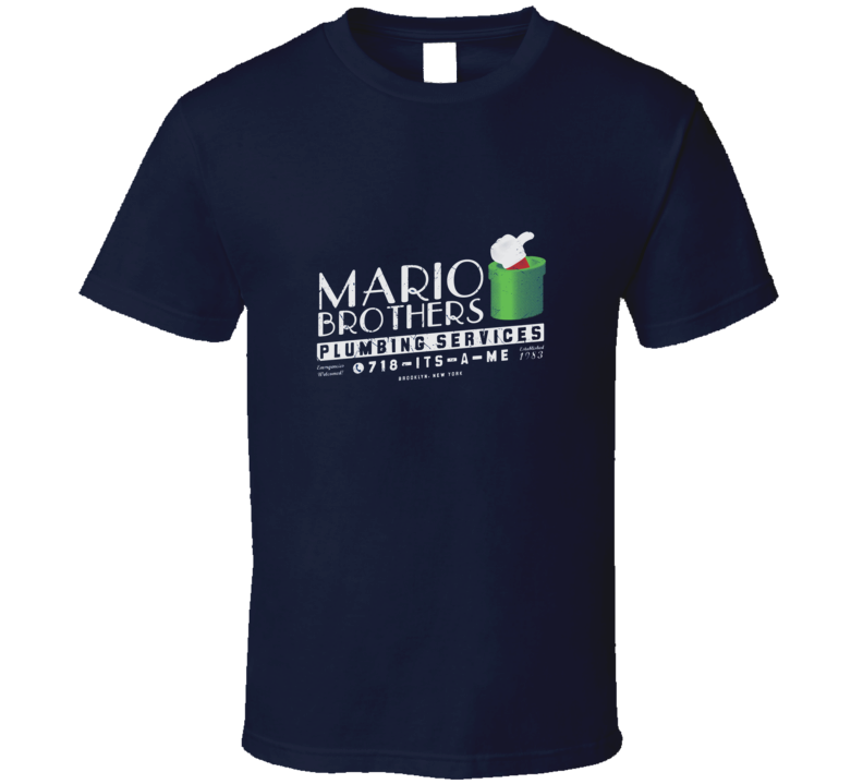 New Mario Brothers Funny Day Job Plumbing T Shirt