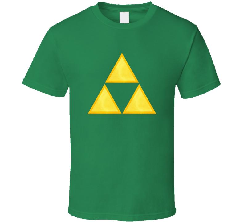 New Retro Legend Of Zelda Triforce nintendo wii T Shirt