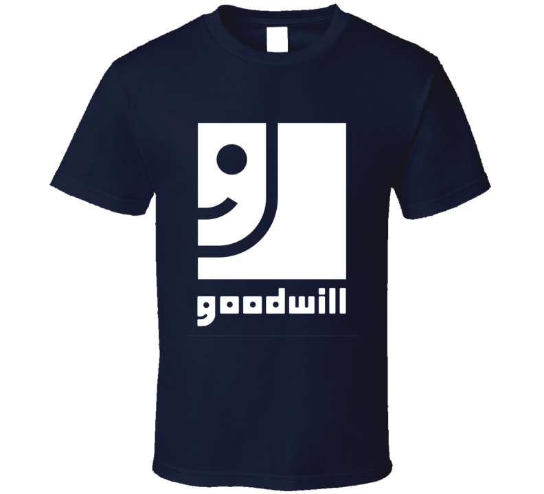 NEW Vintage GOODWILL logo T Shirt retro rare Navy