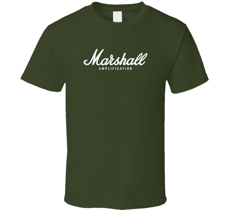 New Marshall AMP rock band music guitar Army Green T Shirt