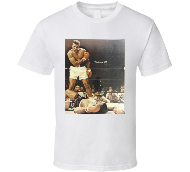 New Muhammad Ali Knockout Sonny Liston Boxing T Shirt