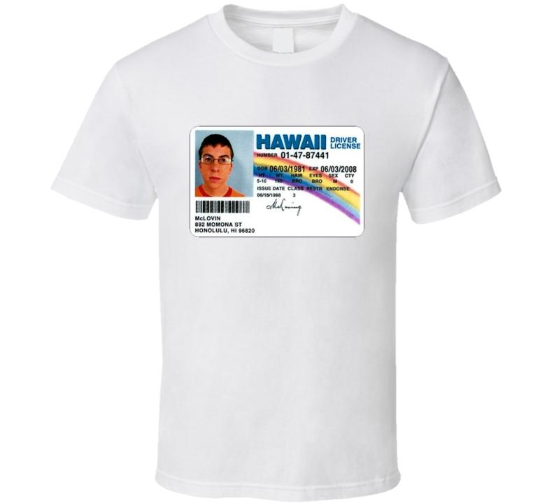 New Mclovin Fake ID Superbad T Shirt