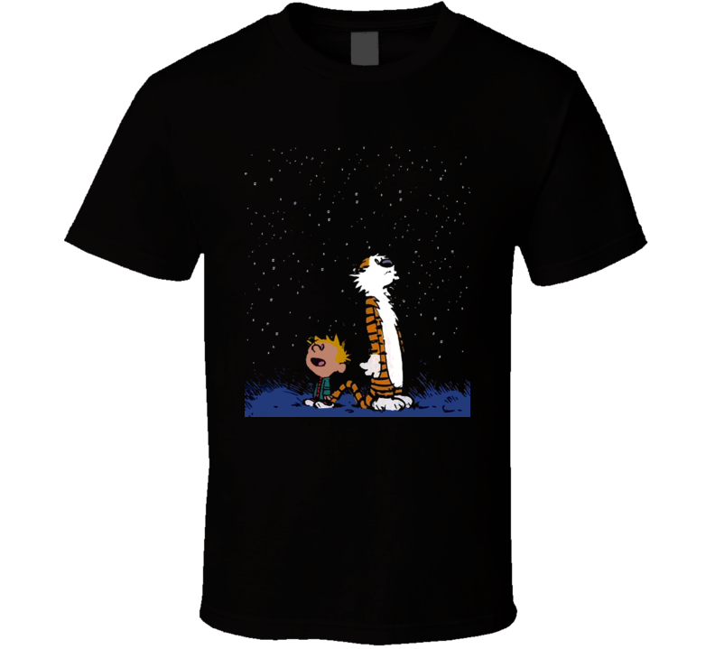 Calvin And Hobbes Stargazing T Shirt