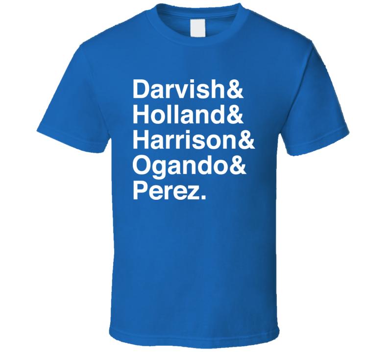 Texas Rotation Darvish Holland Harrison Ogando Perez Baseball T Shirt