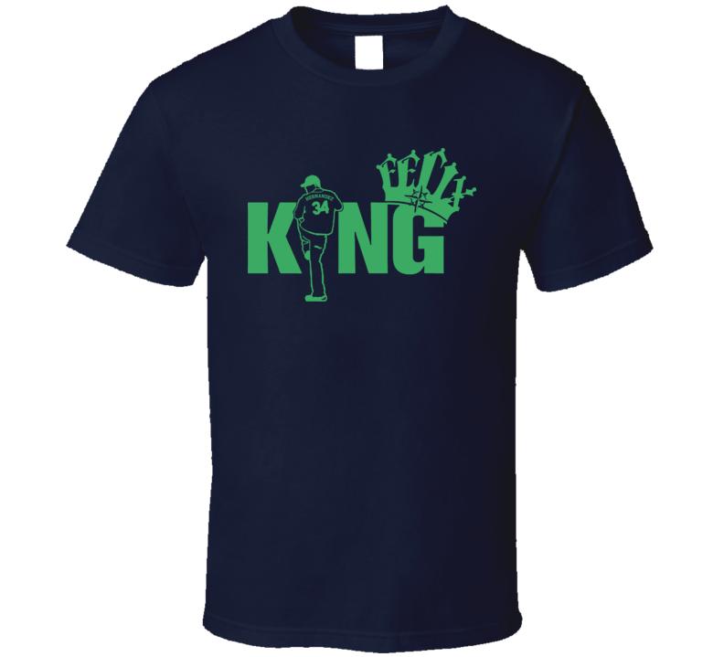 King Felix Hernandez The King Seattle Baseball T Shirt