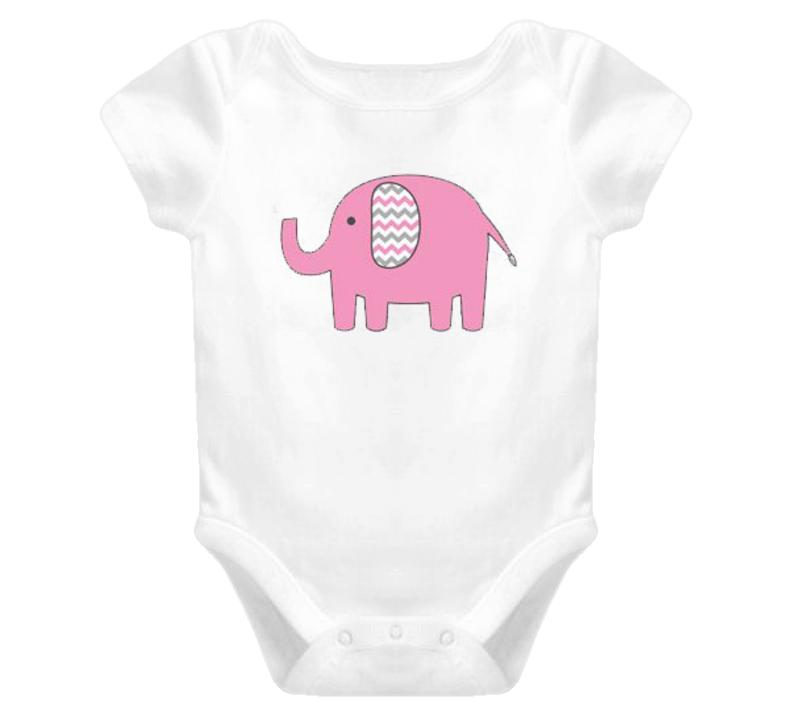 Baby Pink Elephant Onesie TShirt