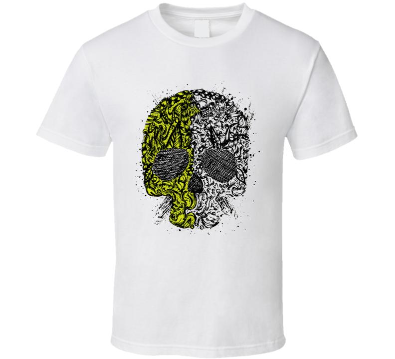 Skull Yin Yang T Shirt