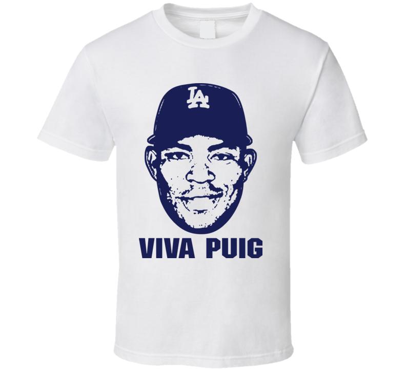 Yasiel Puig Viva Puig Los Angeles Baseball T Shirt