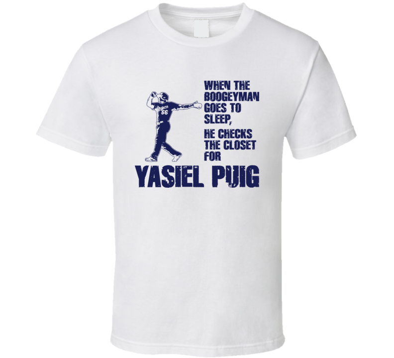 Yasiel Puig Boogeyman Los Angeles Baseball T Shirt