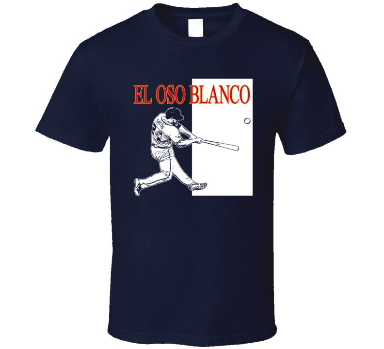 Evan Gattis El Oso Blanco Atlanta Baseball T Shirt