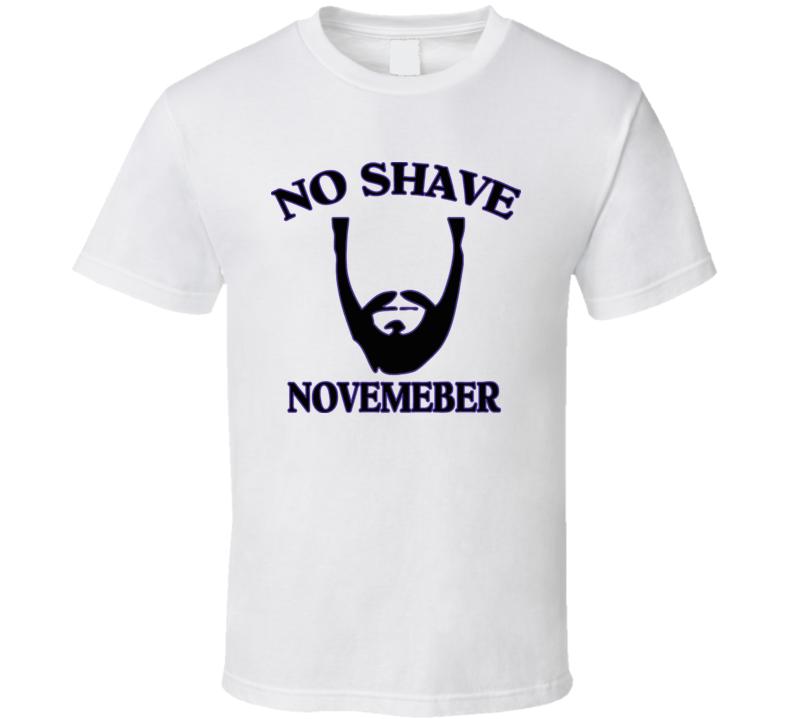 No Shave Movember T Shirt